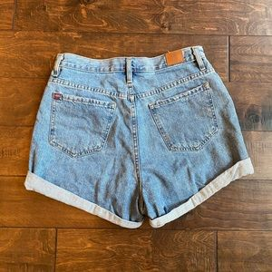 BDG high rise denim shorts
